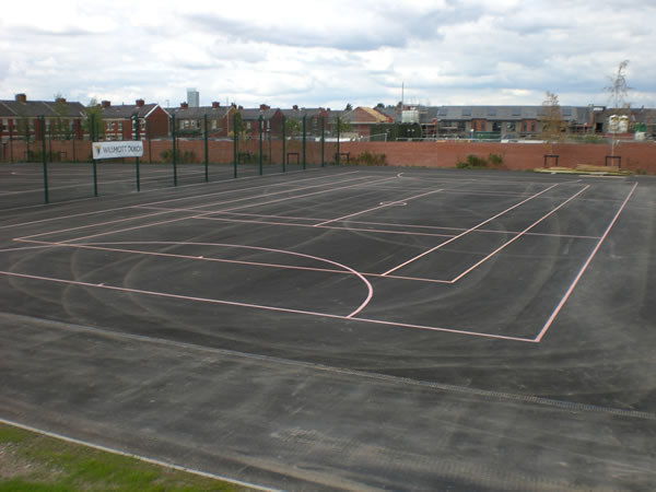 mulit netball court markings