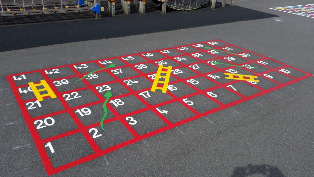 playground markings in wirral