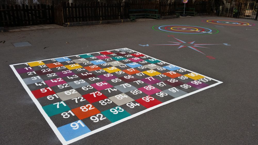 glasgow playground markings