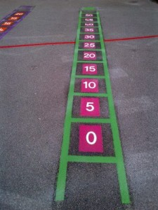 5 times table ladder