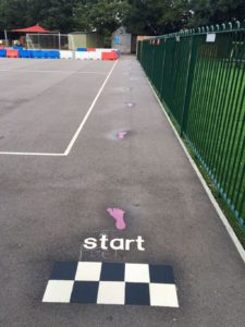 daily mile playground markings