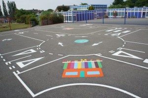 Donnington Wood - Road Track Playground Markings 2