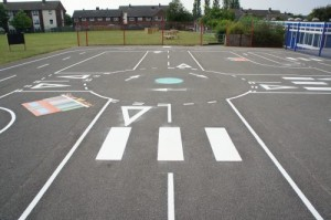 Donnington Wood - Road Track Playground Markings 4