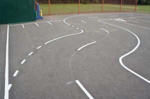 Donnington Wood - Road Track Playground Markings 5jpg