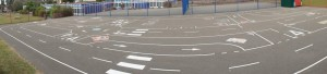 Donnington Wood - Road Track Playground Markings - Complete