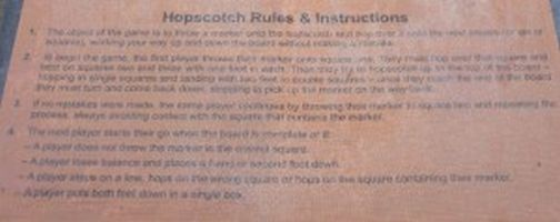Hopscotch Rules 3D