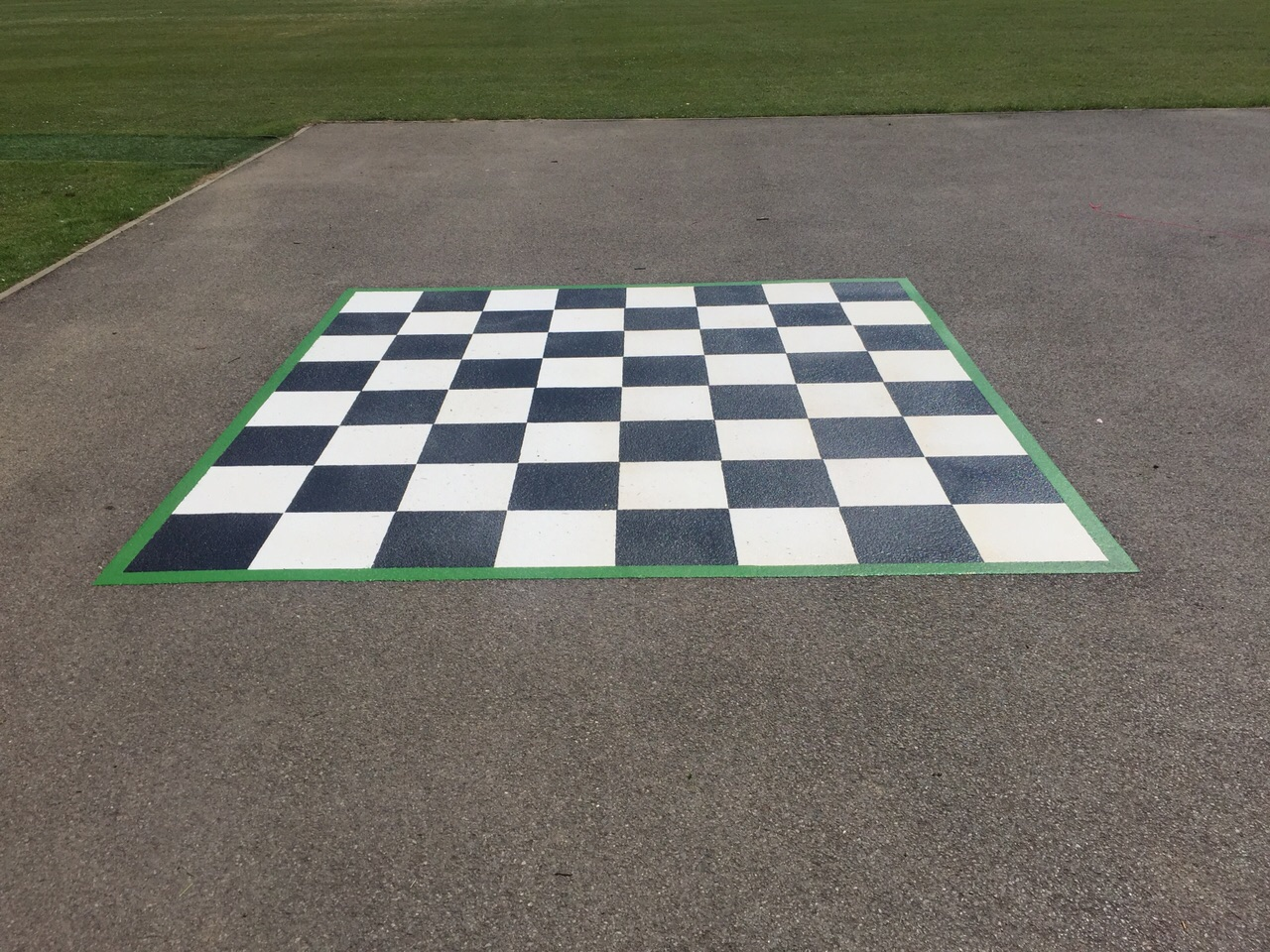 chess playground markings