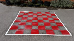 Red Chess Board