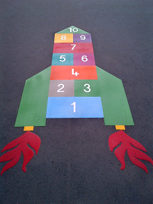 playground markings gateshead