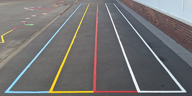 playground markings in Biury