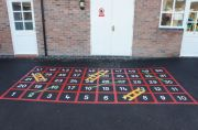 Snakes & Ladders Playground Markings 1-50 Oultine