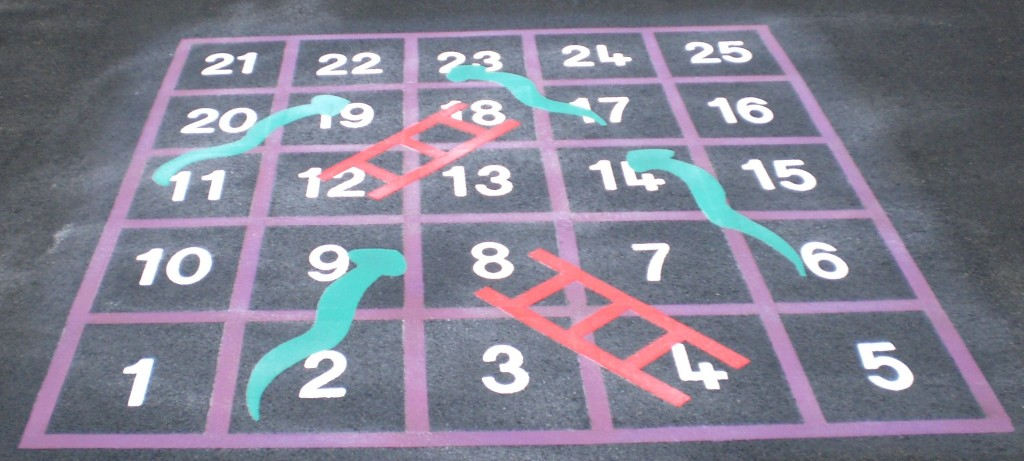 Snakes and Ladders - one of the playground games we supply