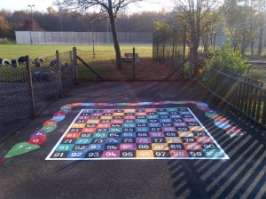 """a manchester school with our playground markings"""
