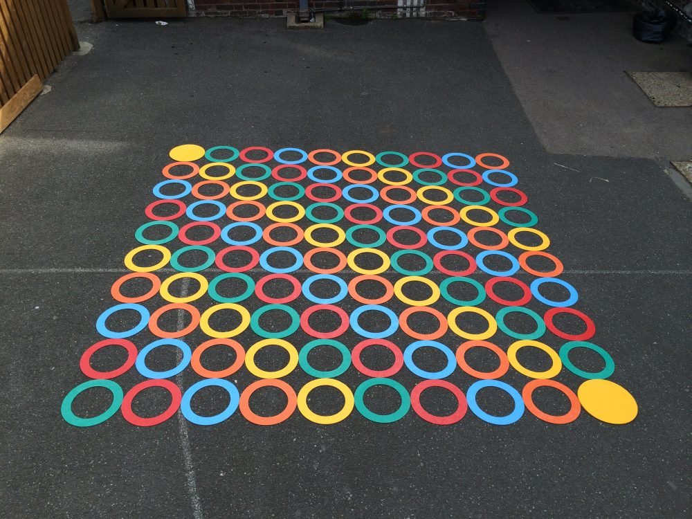 olourful playground markings