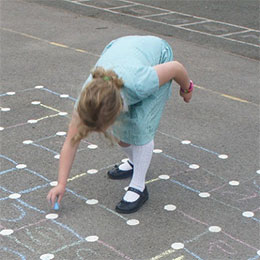 playground markings at hull school